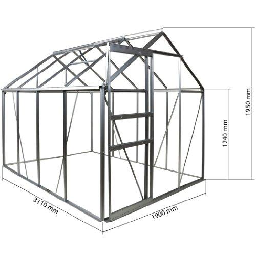 475 m aluminium gew chshaus 6 mm hohlkammerplatten. Black Bedroom Furniture Sets. Home Design Ideas