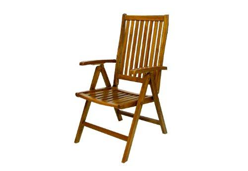 GartenmObel Holz Verstellbar ~   Stuhl Akazie Holz Hochlehner 5 fach verstellbar klappbar Gartenstuhl